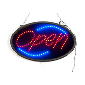 Oval LED Open sign