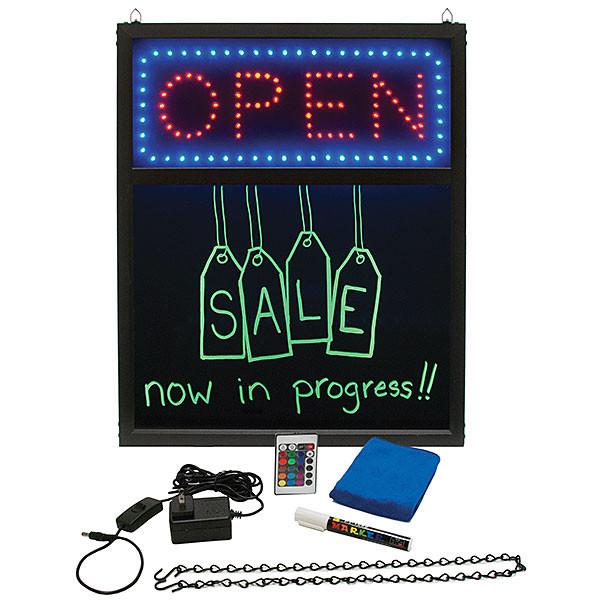 LED Menu Board w/Open Sign and Remote