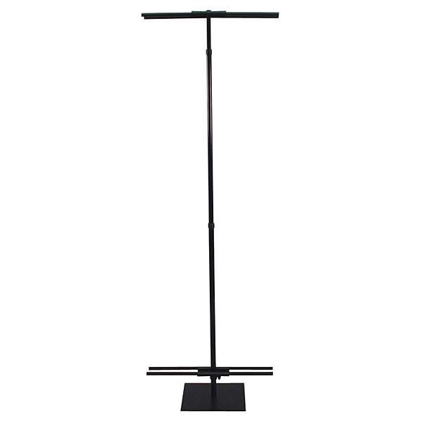 """Adjustable banner stand 36""""-96"""" black"""