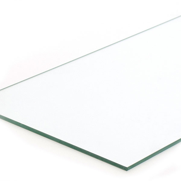 "Plate glass shelf 8""x23""x1/4"" - fits 4' showcases"