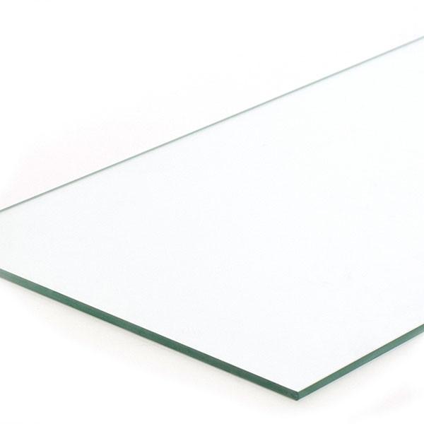 "Plate glass shelf 10""x23""x1/4"" - fits 4' showcases"