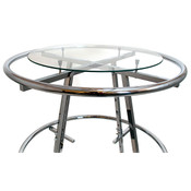 "Round plate glass shelf 36"" diameter x 1/4"