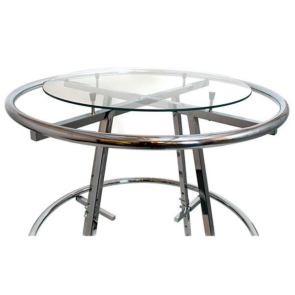 "Round plate glass shelf 36"" diameter x 1/4"