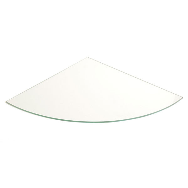 "Tempered glass 14"" x 3/16"" quarter round"