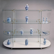 """Glass unit oval 30""""x60"""" with chrome connectors"""