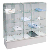 Glass Cube Unit - chrome