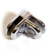 2-way glass connector - chrome