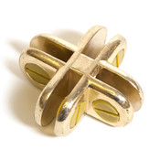 4-way glass connector - brass