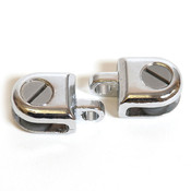 Glass hasp for 3/16 (2pcs) - chrome