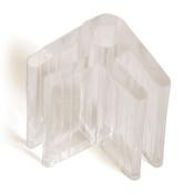 "2-way lexan glass connector 3/16"" - clear"