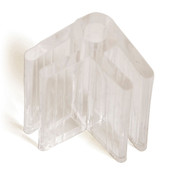 "2-way lexan glass connector 3/16"" - clear"