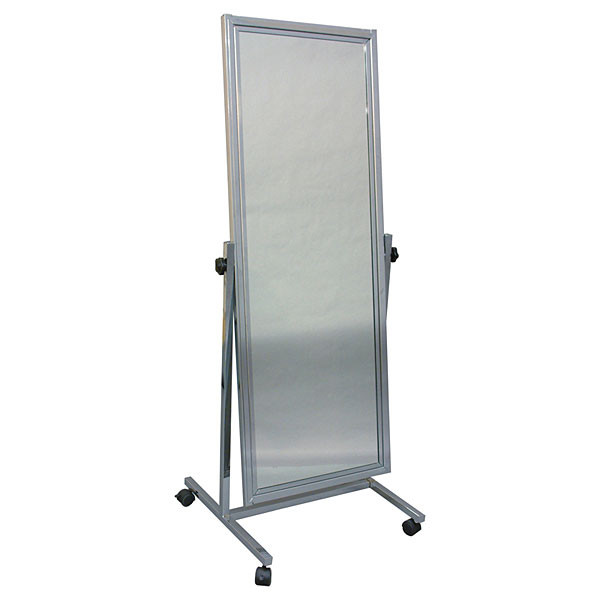 """Adjustable mirror with floor stand & casters - 20""""x60"""""""
