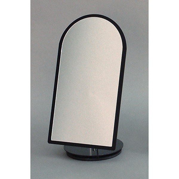 "Counter top mirror black 7""wx14""h rotates 360 degrees"