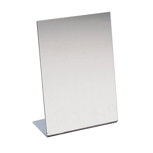 "Acrylic counter top mirror slants - 9""wx12""h"