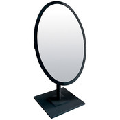 Oval Mirror 10x14 w/Base Black Frame