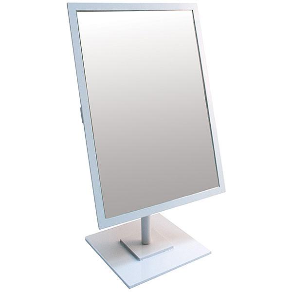 Rectangular Mirror 10x14 w/Base White Frame
