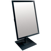 Rectangular Mirror 10x14 w/Base Black Frame