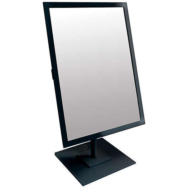 Rectangular Mirror 10x14 w/Base Black Frame