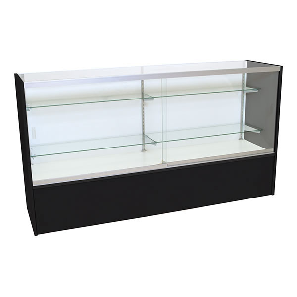 Front Open Showcase 70 inch - Black