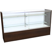 Front Open Showcase 70 inch - Chocolate Cherry w/light