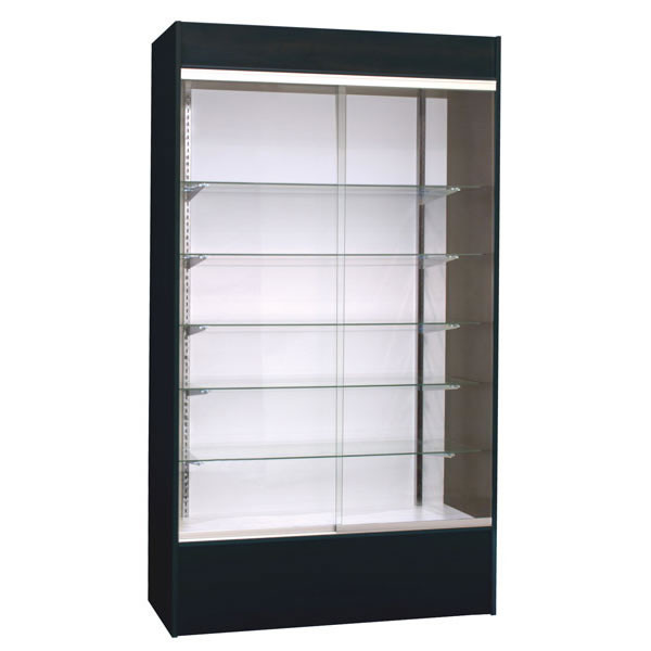 Wall unit display - black with light