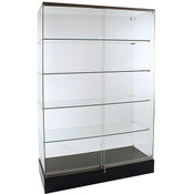 Frameless Glass Showcase 48W x 18D x 72H