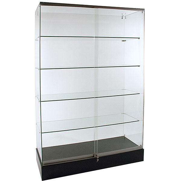Frameless Glass Showcase 48W x 18D x 72H