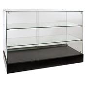 Frameless Glass Showcase Full Vision 48W x 18D x 38H
