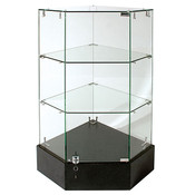 Frameless Glass Corner Unit 18 x 18 x 38H