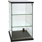 Frameless Glass Countertop Showcase 13 x 13 x 24H