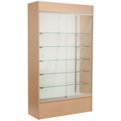 Wall unit display - maple with light