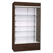 "Wall Unit Display - Choc. Cherry 48"" with Lights"