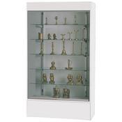 Wall unit display - white