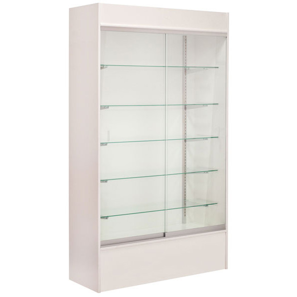 """Wall unit display - white 48"""" with light"""