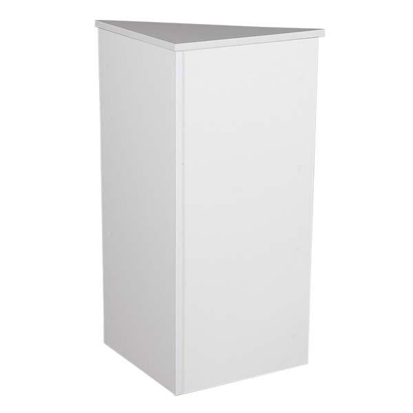 Closed corner filler - white