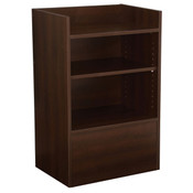 Well top register stand - chocolate cherry