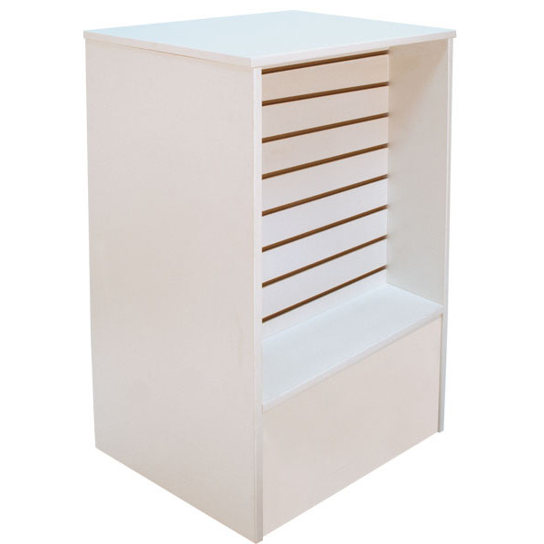 Slatwall Front Register Stand - White