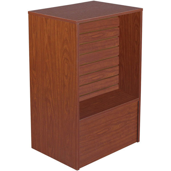 Slatwall Front Register Stand - Cherry