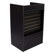 Slatwall Front Well-top Register Stand - Black