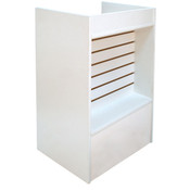 Slatwall Front Well-top Register Stand - White