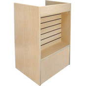 Slatwall Front Well-Top Register Stand - Maple