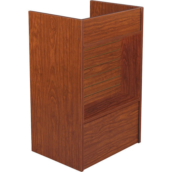 Slatwall Front Well-top Register Stand - Cherry