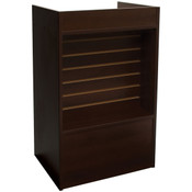 Slatwall Front Well-top Register Stand - Chocolate Cherry