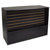 Slatwall Front Wrap Counter 70 inch - Black