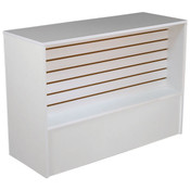 Slatwall Front Wrap Counter 48 inch - White