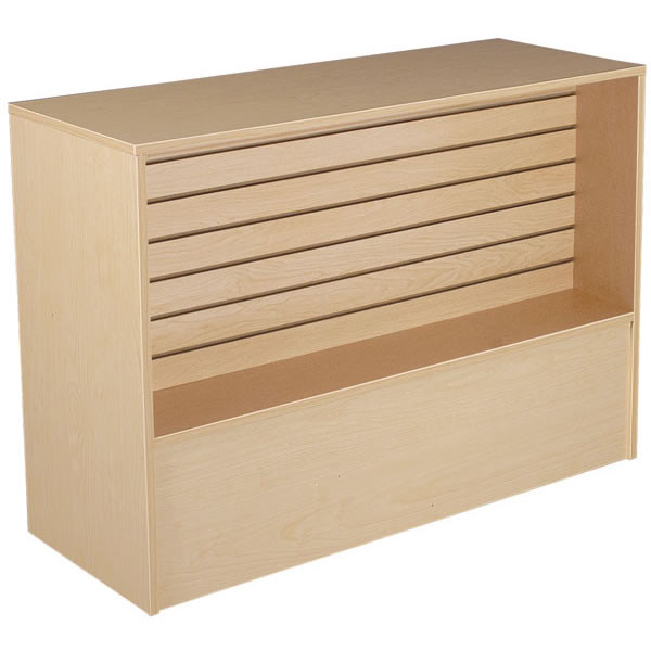 Slatwall Front Wrap Counter 48 inch- Maple