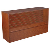 Slatwall Front Wrap Counter 48 inch - Cherry