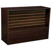 Slatwall Front Wrap Counter 70 inch - Chocolate Cherry