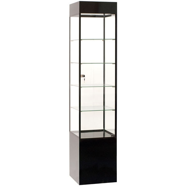 Display Tower Showcase - Black