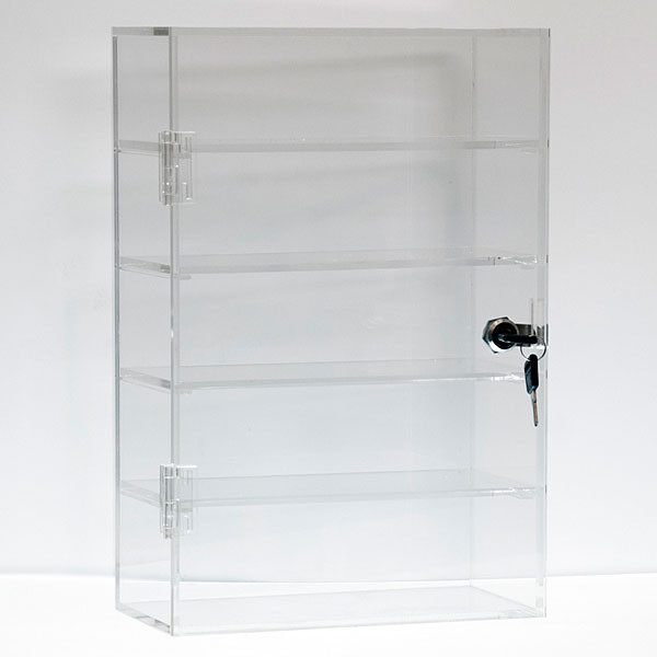 "Acrylic countertop showcase 10""w x 15""h x 5""d"